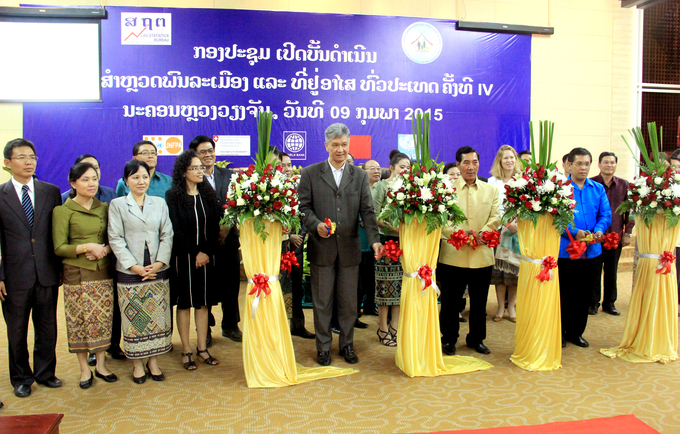 Lao PDR officially announces the 4th Population and Housing Census